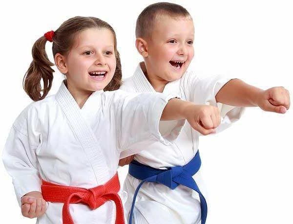 martial arts boy and girl