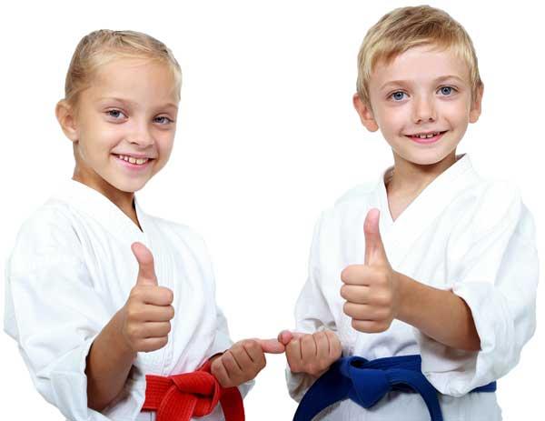 martial arts kids thumbs up
